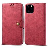 Lenuo Leather pro iPhone 11 Pro, červená - Pouzdro na mobil