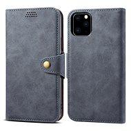 Lenuo Leather pro iPhone 11 Pro, šedá - Pouzdro na mobil