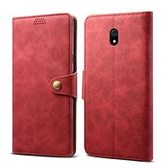 Lenuo Leather for Xiaomi Redmi 8A, red
