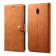 Lenuo Leather pro Xiaomi Redmi 8A, hnědá - Pouzdro na mobil
