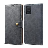 Pouzdro na mobil Lenuo Leather pro Samsung Galaxy A71, šedá