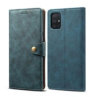 Lenuo Leather pro Samsung Galaxy A71, modrá  - Pouzdro na mobil