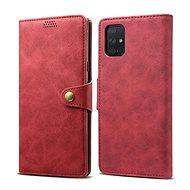 Lenuo Leather pro Samsung Galaxy A71, červená - Pouzdro na mobil