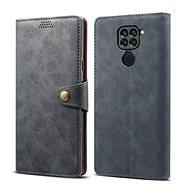 Lenuo Leather pro Xiaomi Redmi Note 9, šedé