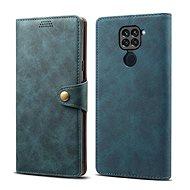 Lenuo Leather pro Xiaomi Redmi Note 9, modré