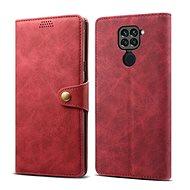 Lenuo Leather pro Xiaomi Redmi Note 9, červené - Pouzdro na mobil