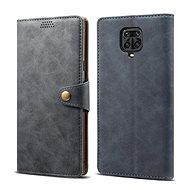 Lenuo Leather pro Xiaomi Redmi Note 9 Pro/ Note 9S, šedé