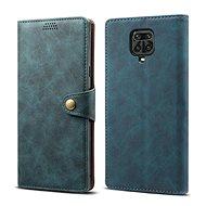 Lenuo Leather pro Xiaomi Redmi Note 9 Pro/ Note 9S, modré