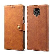 Lenuo Leather pro Xiaomi Redmi Note 9 Pro/ Note 9S, hnědé