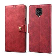 Lenuo Leather pro Xiaomi Redmi Note 9 Pro/ Note 9S, červené