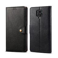 Lenuo Leather pro Xiaomi Redmi Note 9 Pro/ Note 9S, černé