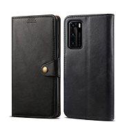 Lenuo Leather pro Huawei P40, černé - Pouzdro na mobil