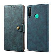 Lenuo Leather pro Huawei P40 Lite E, modré - Pouzdro na mobil