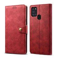Lenuo Leather pro Samsung Galaxy A21s, červená
