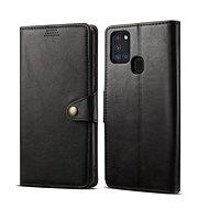 Lenuo Leather pro Samsung Galaxy A21s, černá