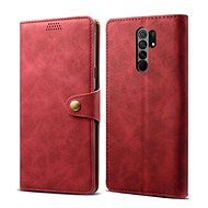 Lenuo Leather pro Xiaomi Redmi 9, červená - Pouzdro na mobil