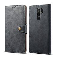 Lenuo Leather pro Xiaomi Redmi 9, šedá - Pouzdro na mobil