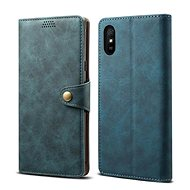 Lenuo Leather for Xiaomi Redmi 9A, Blue