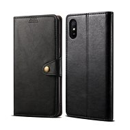 Lenuo Leather for Xiaomi Redmi 9A, Black