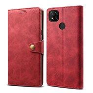 Lenuo Leather pro Xiaomi Redmi 9C, červená - Pouzdro na mobil