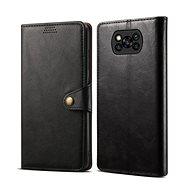 Lenuo Leather pro Xiaomi Poco X3, černá - Pouzdro na mobil