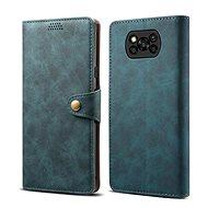 Lenuo Leather pro Xiaomi Poco X3, modrá - Pouzdro na mobil