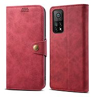 Lenuo Leather pro Xiaomi Mi 10T/10T Pro, červené - Pouzdro na mobil