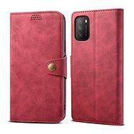 Lenuo Leather pro Xiaomi Poco M3, červené - Pouzdro na mobil