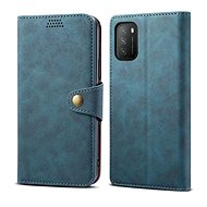 Lenuo Leather pro Xiaomi Poco M3, modré - Pouzdro na mobil