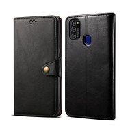 Lenuo Leather pro Samsung Galaxy S21 5G, černé - Pouzdro na mobil