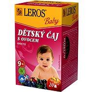 LEROS Baby  Dětský čaj S ovocem 20x2g - Dětský čaj