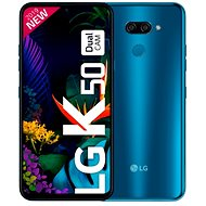 LG K50 modrá - Mobilní telefon