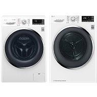 LG F84J8TS2W + LG RC81U2AV2W - Washer and dryer set