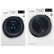 LG F104J8JS2W + LG RC91U2AV2W - Washer and dryer set