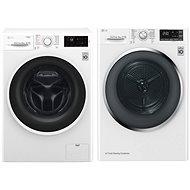 LG F84J6TY0W + LG RC81U2AV2W - Washer and dryer set