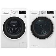 LG F84J6TY0W + LG RC82EU2AV3W - Washer and dryer set