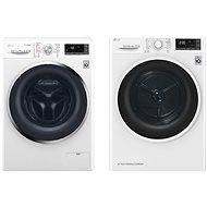 LG F104J8JS2W + LG RC82EU2AV4W - Washer and dryer set