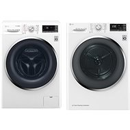 LG F104J8JS2W + LG RC81U2AV2W - Washer and dryer set