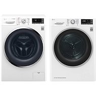 LG F84J8TS2W + LG RC82EU2AV3W - Washer and dryer set