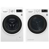 LG F84J8TS2W + LG RC82EU2AV4W - Washer and dryer set