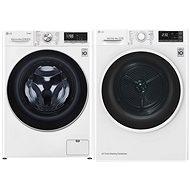 LG F4WV708P1 + LG RC82EU2AV4Q - Washer and dryer set