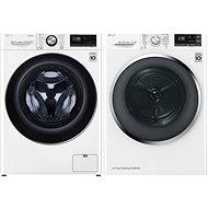 LG F4WV909P2 + LG RC91U2AV2W - Washer and dryer set