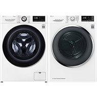LG F4WV910P2 + LG RC91U2AV2W - Washer and dryer set