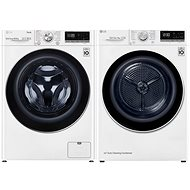 LG F4WV910P2E + LG RC81V9AV4Q - Washer and dryer set