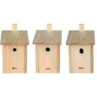 KikiTiki Sada stavebnic ptačích budek - sýkorník 28 mm, 34 mm a 30x45 mm
