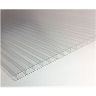 LANITPLAST Komůrkové prosklení PC 4 mm pro LANITPLAST PLUGIN 8x14 stříbrný / zelený - Skleník