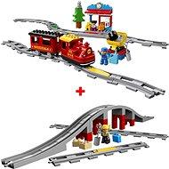 LEGO DUPLO 10874 Parní vláček + 10872 Most a koleje