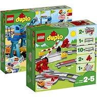 LEGO DUPLO 10875 Nákladní vlak + 10882 Koleje + 10872 Doplňky k vláčku – most a koleje - Herní set