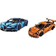 LEGO Technic 42056 Porsche 911 GT3 RS + LEGO Technic 42083 Bugatti Chiron - Herní set