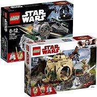 LEGO Star Wars 75168 Yodova jediská stíhačka + LEGO Star Wars 75208 Chýše Mistra Yody - Herní set